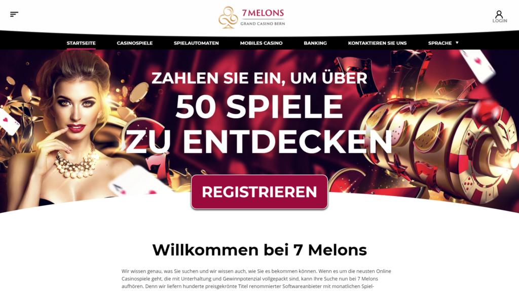 Startseite von 7Melon